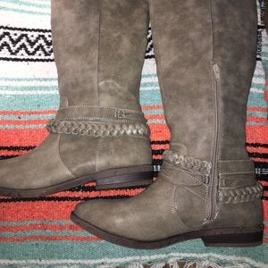 New Rampage 11 Gray Tall Boots Re-Posh